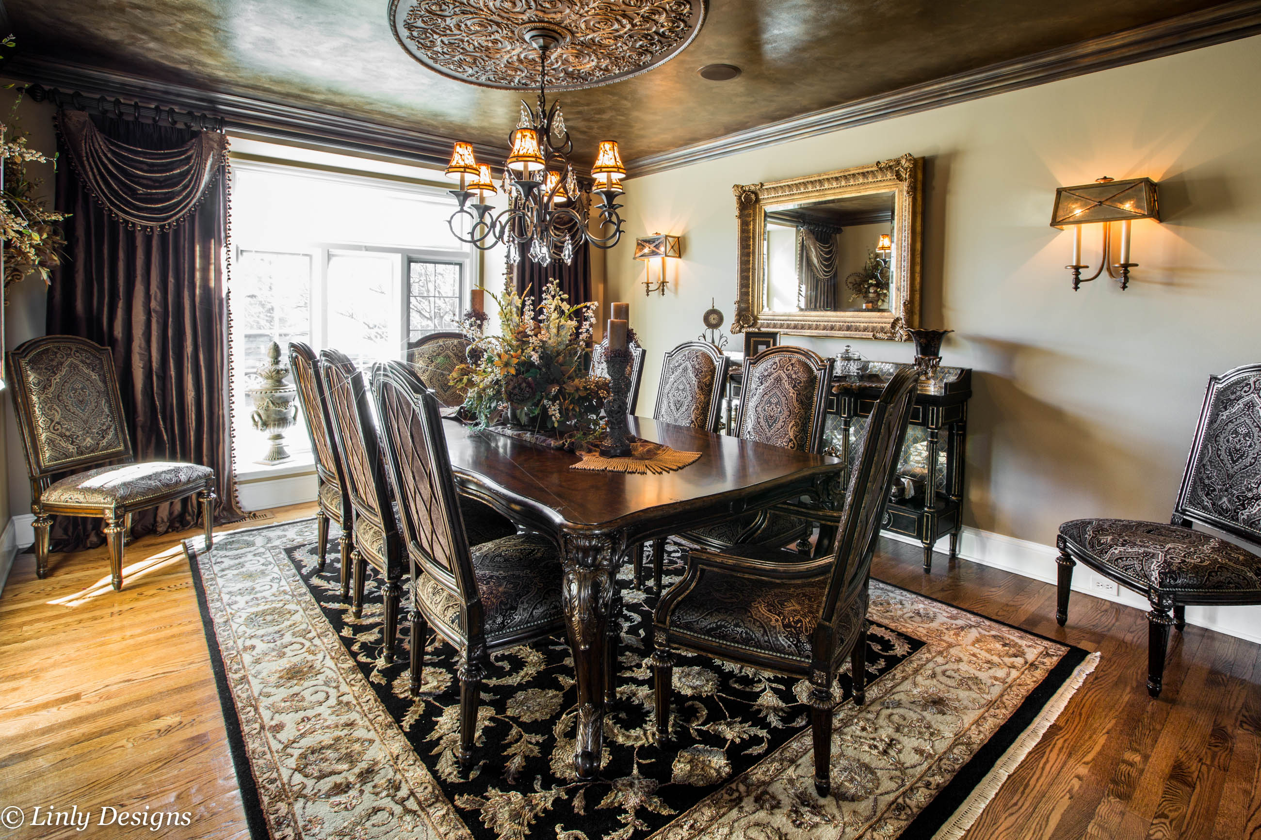 Marge Carson Dining Tables South Barrington Dining Room Project