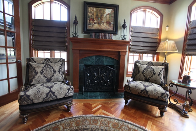 Upholstered Arm Chairs & Custom Window Treatments