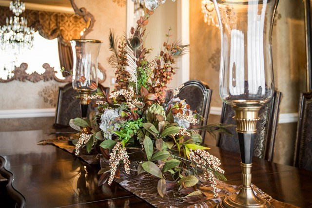 Fall silk floral centerpiece