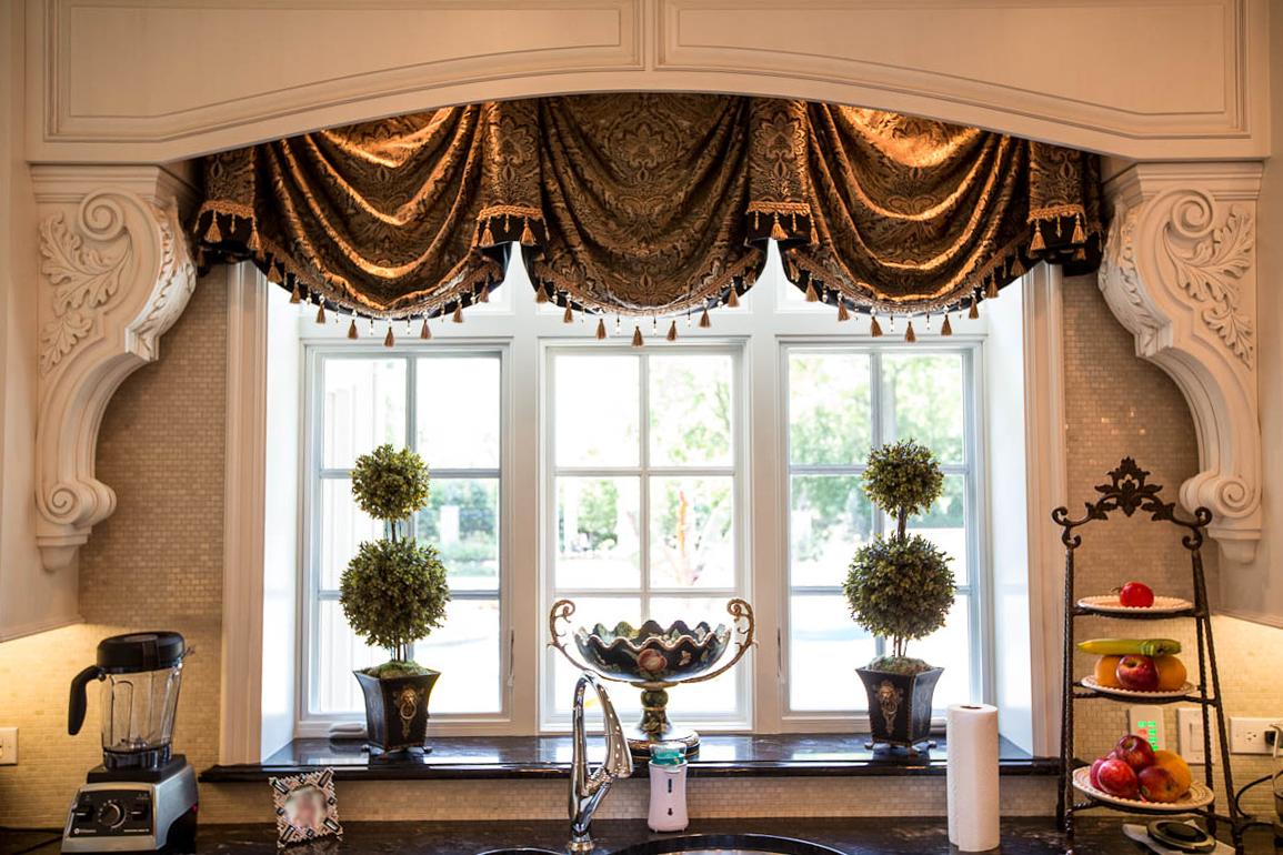 Kitchen decor linly designs - Curtain designs for kitchen windows ...