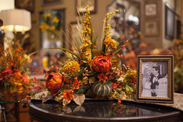 Fall home decor and silk florals