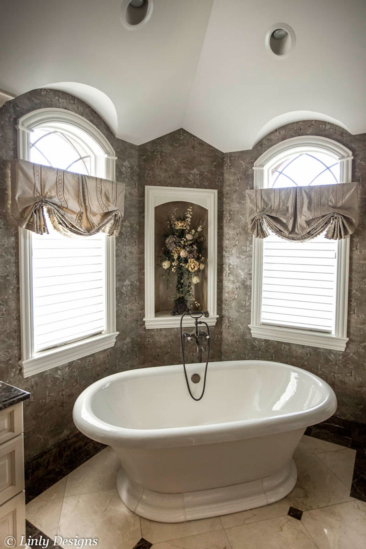 window treatment ideas for bathroom custom window treatments projects linly designs 26241