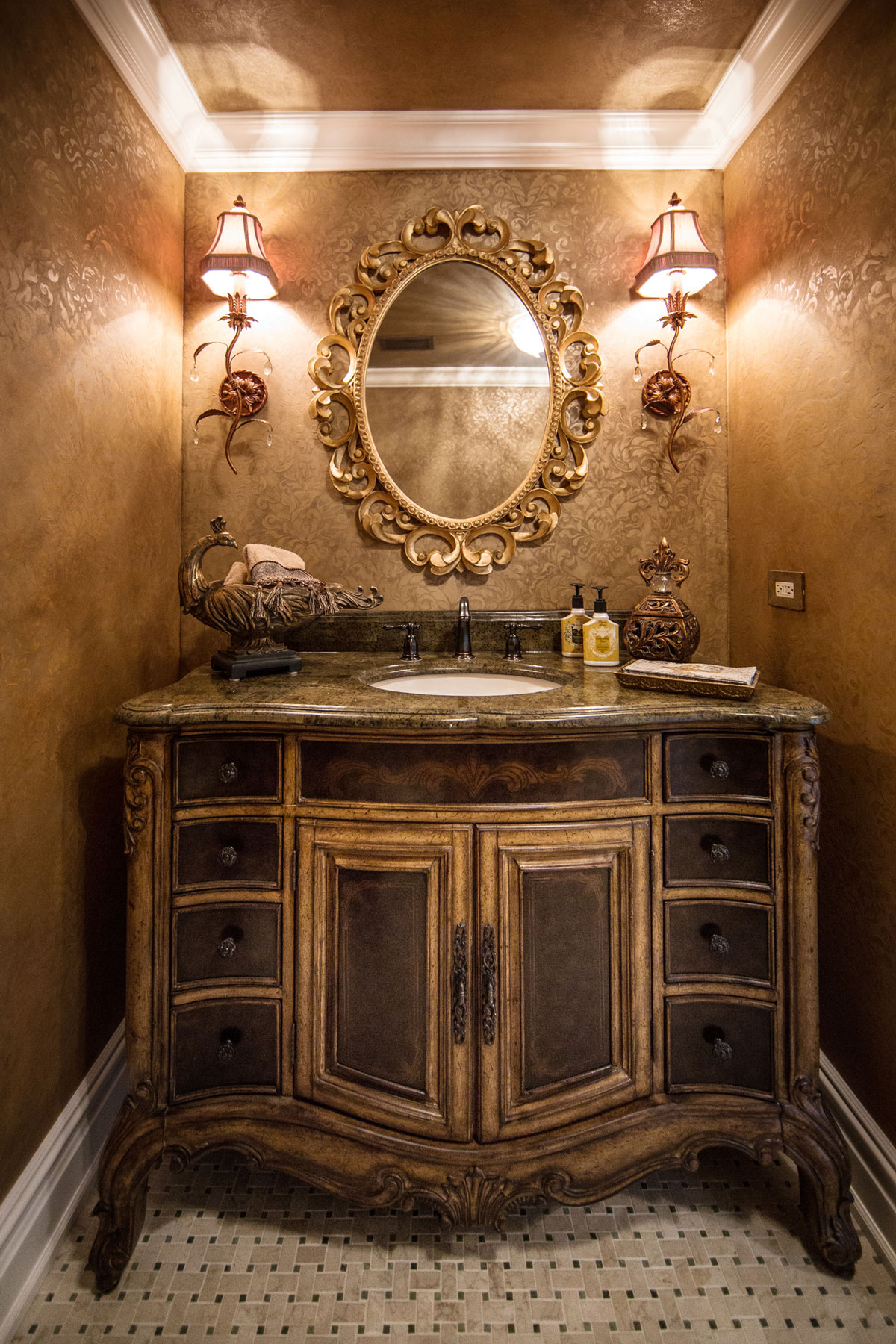 Chicago Condo Custom Powder Room Remodel