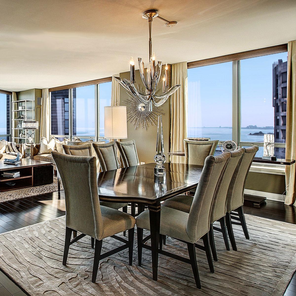 Luxury Fine Home Interior: Dining Room Decor