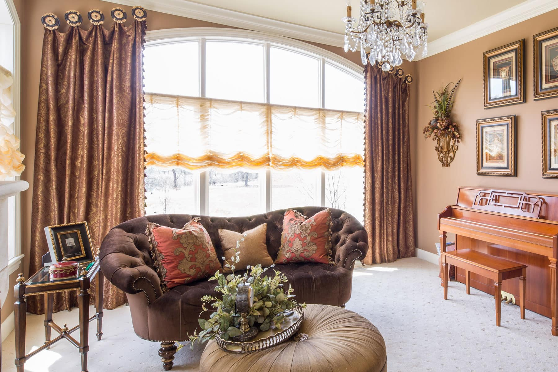 Custom Living Room Window Treatments