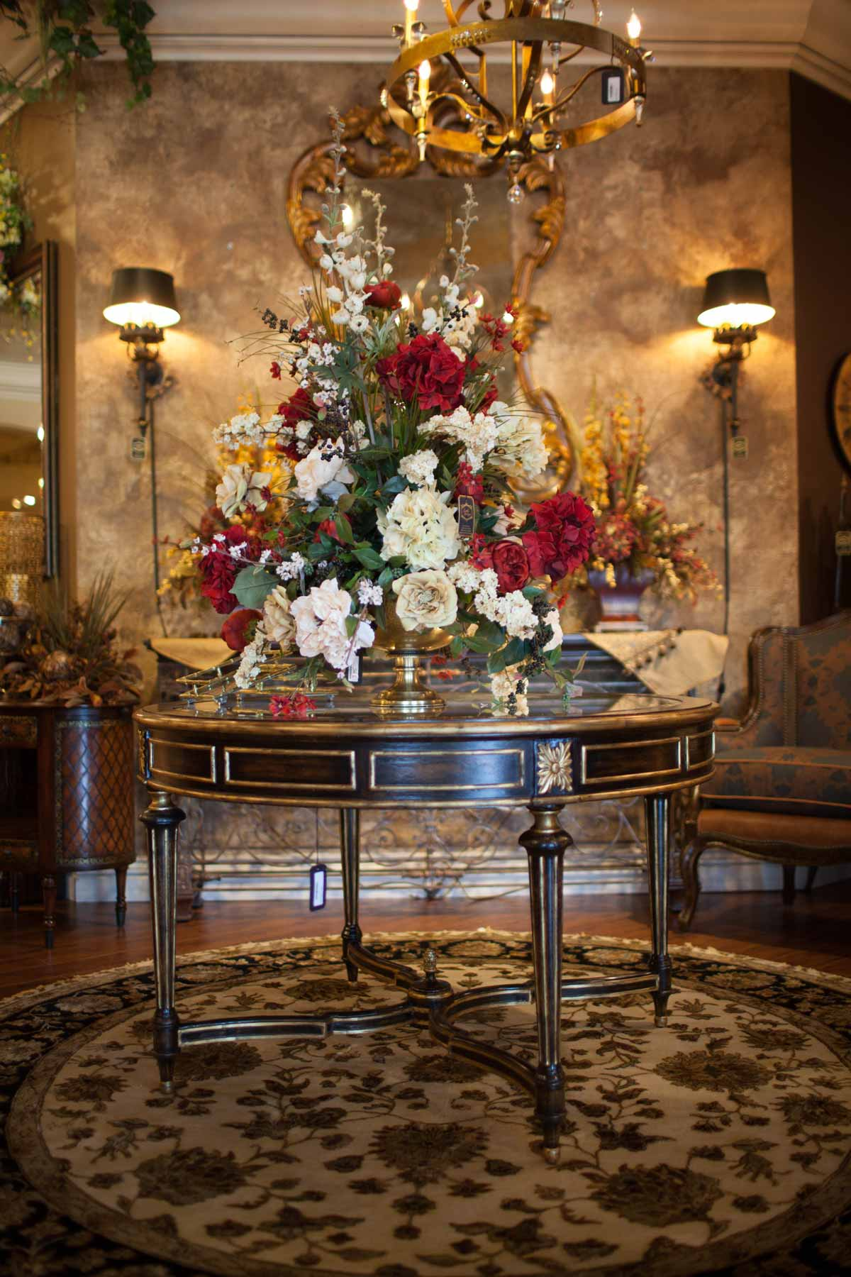 Foyer Table Floral Arrangements : Silk floral seasonal decor linly designs