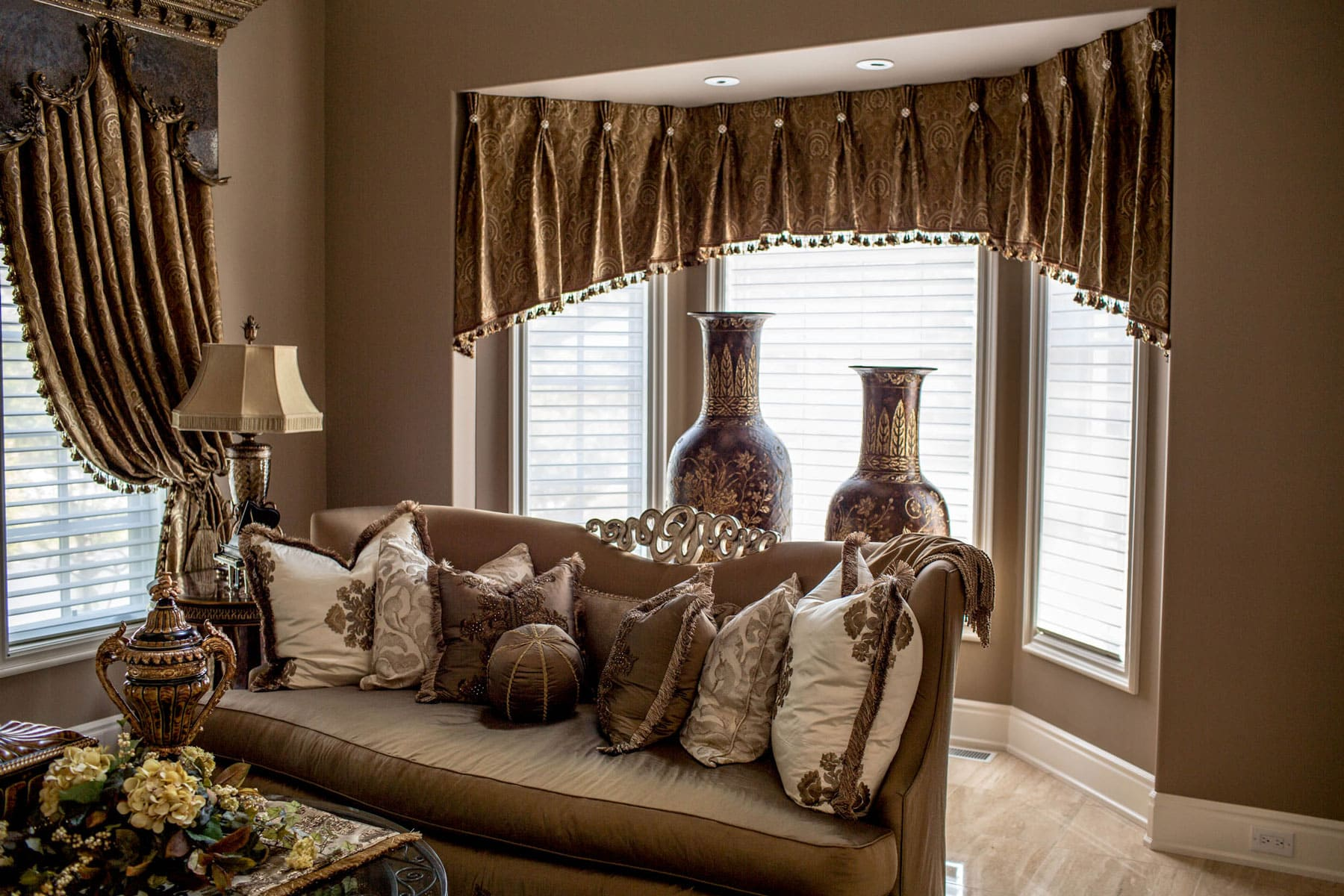 Grand Living Room Window Treatments