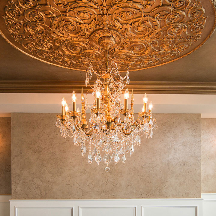 Hand Painted Gold Ceiling Medallion