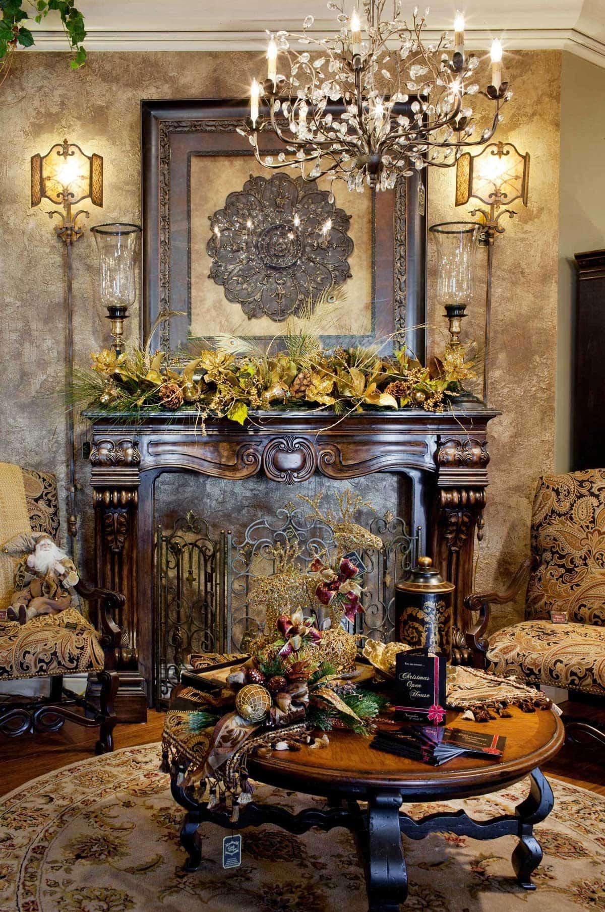 Holiday-Mantel-Luxury-Christmas-Decor