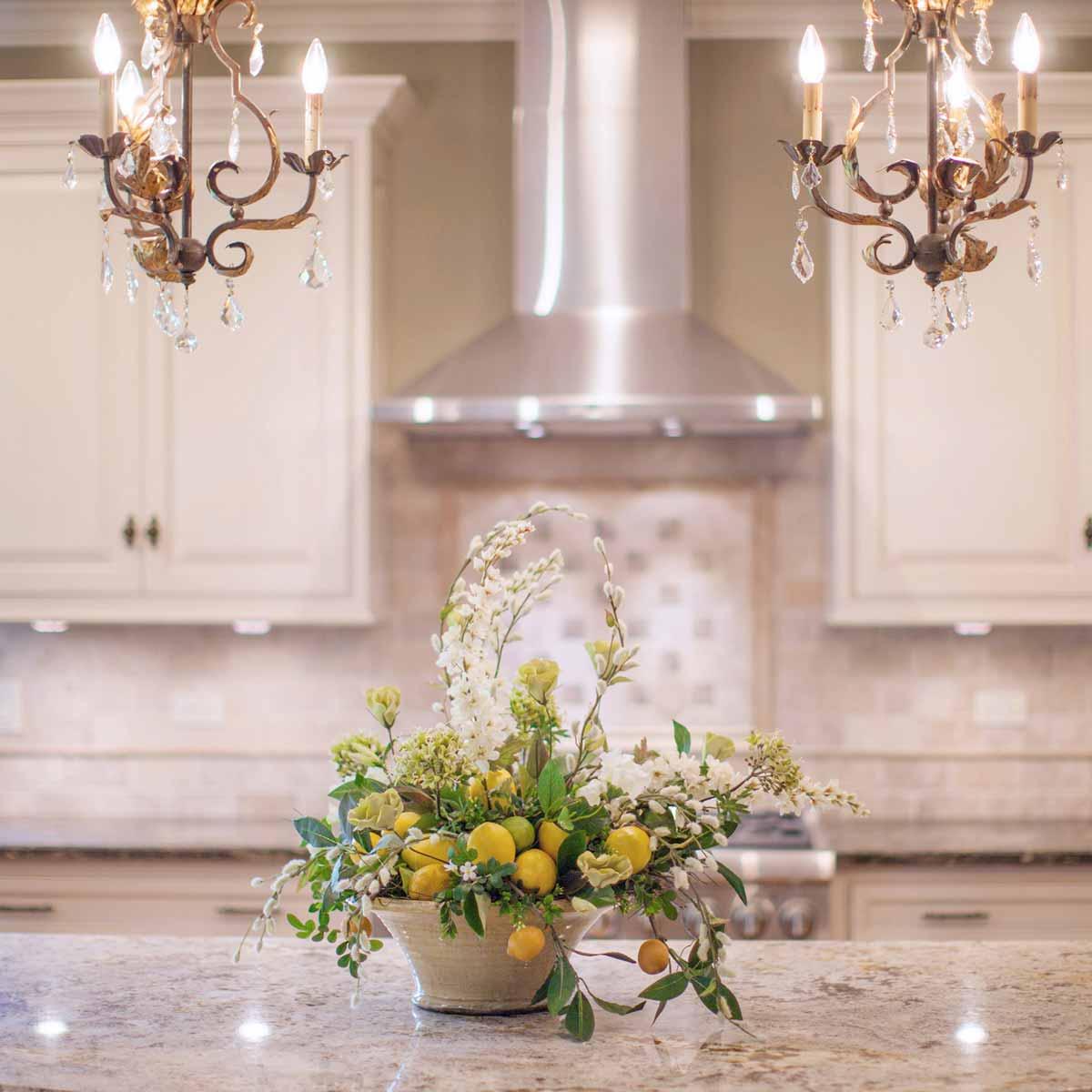 Kitchen Lemon Flower Arrangement