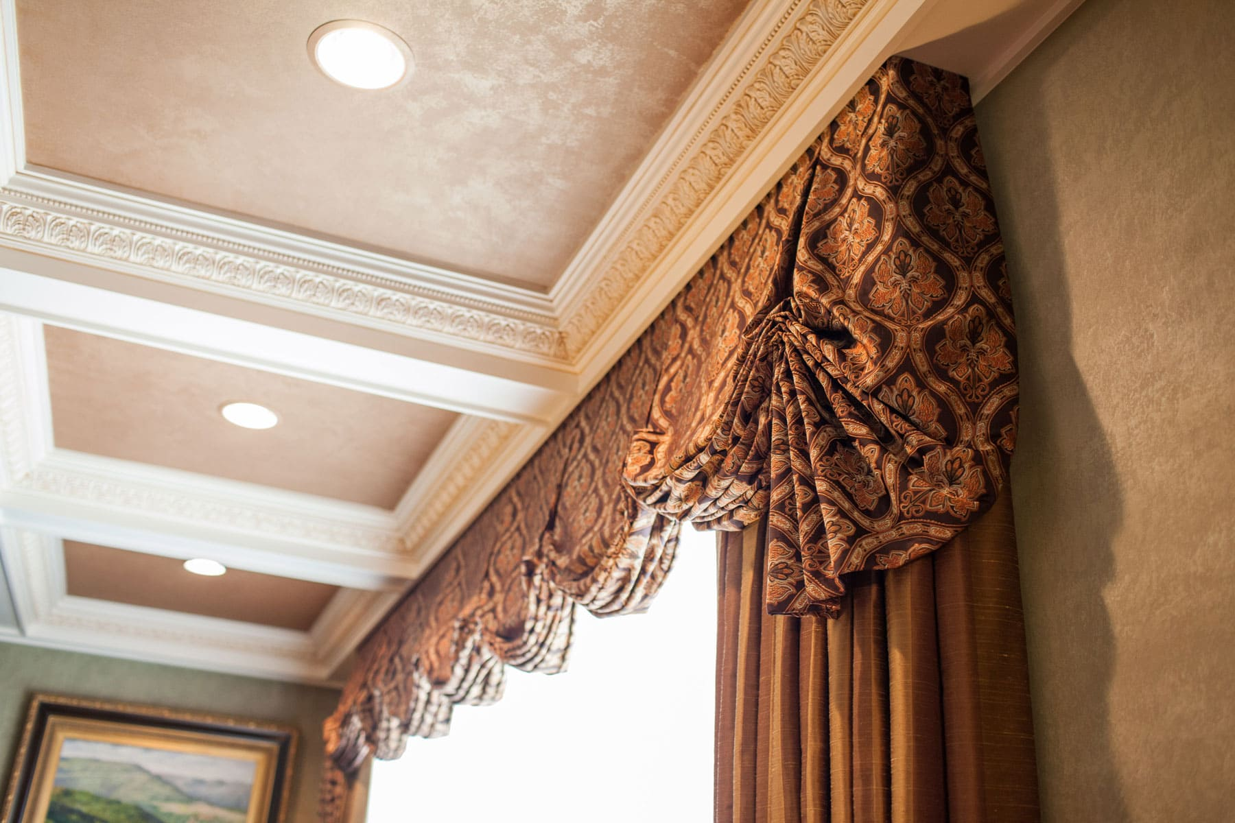 Custom window treatments projects linly designs for Custom window designs