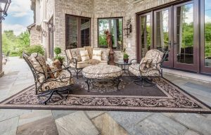 luxury outdoor patio furniture and rug - Luxury Patio Furniture