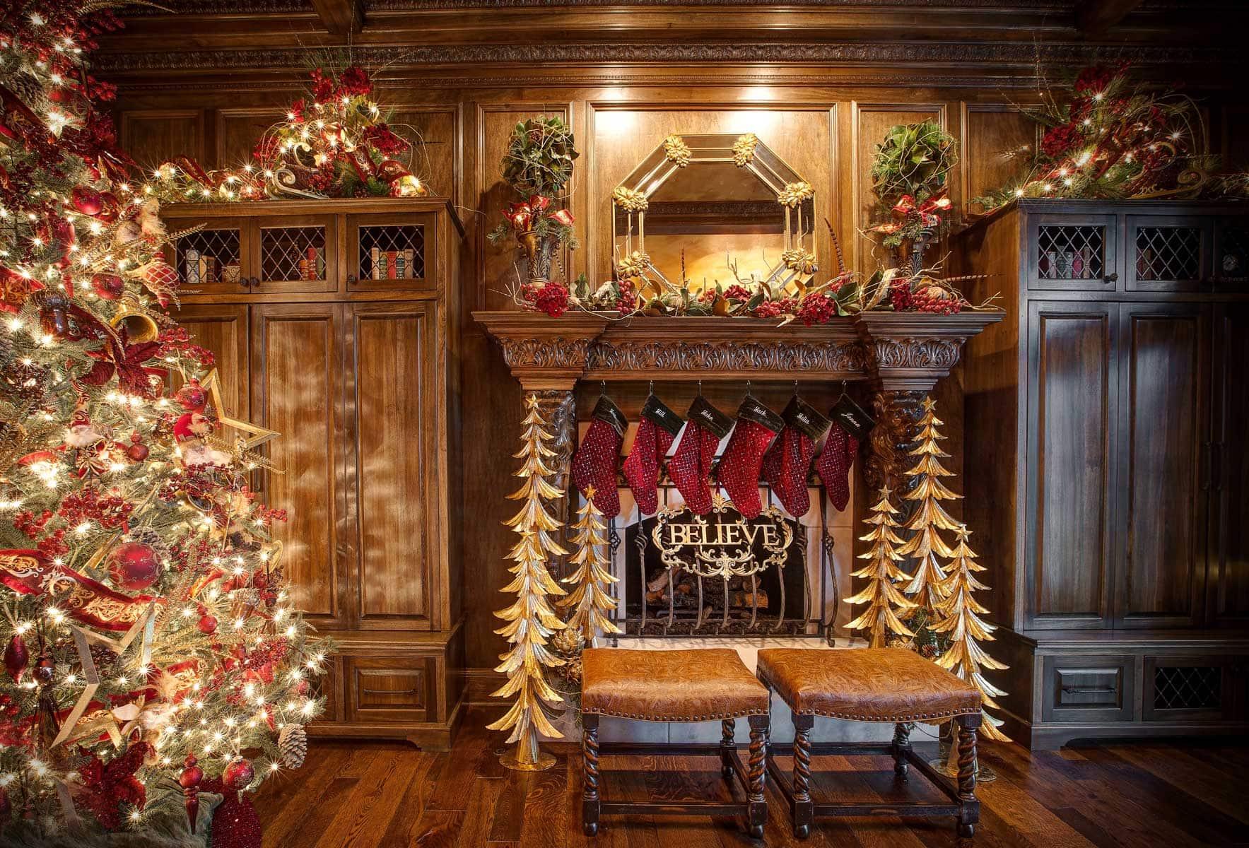 Christmas home decor linly designs for Christmas mural