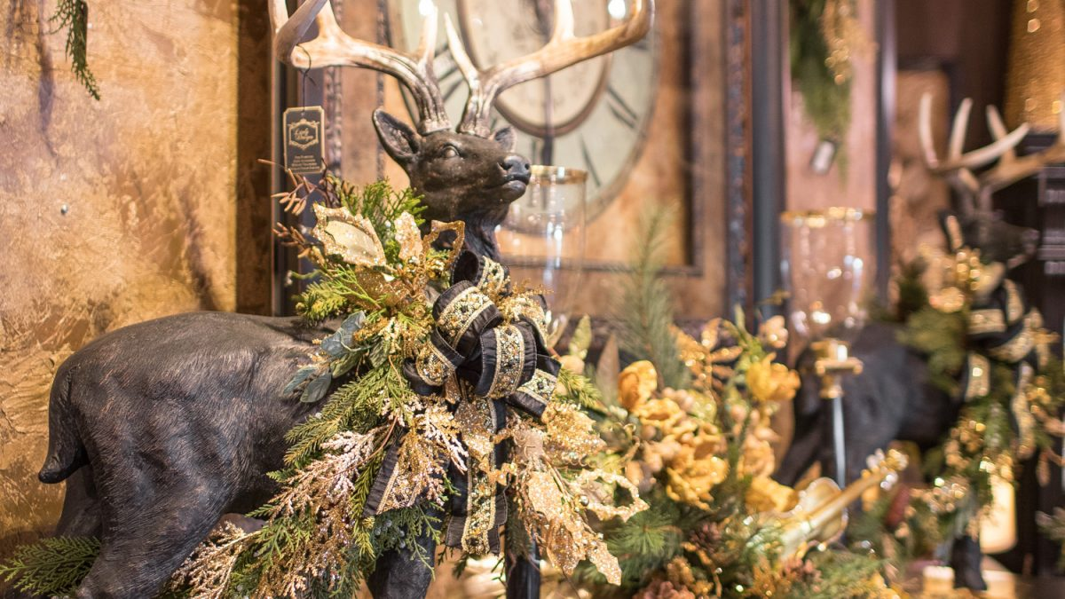 Custom christmas decorated deer