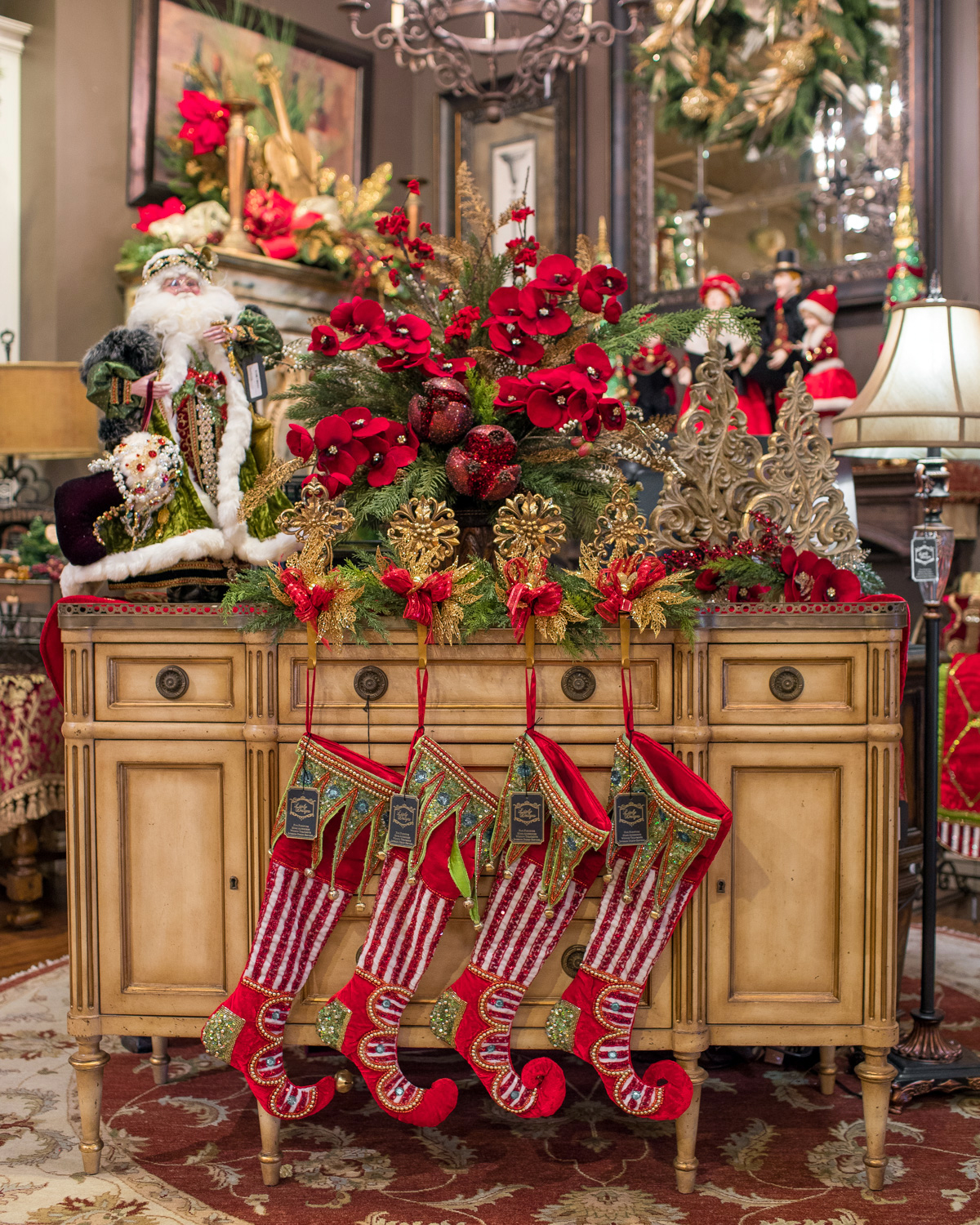 Luxury christmas decoration for the home - Luxury Christmas Floral Arrangements And Decor