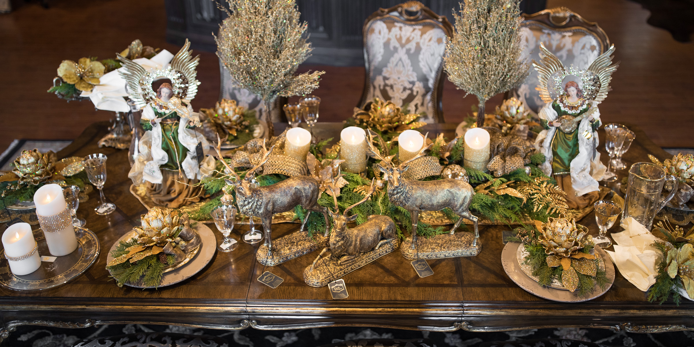 Holiday table setting archives linly designs silk floral arrangements storetags christmas decorating holiday decor holiday table setting marge carson silk floral arrangementsleave a comment mightylinksfo Choice Image