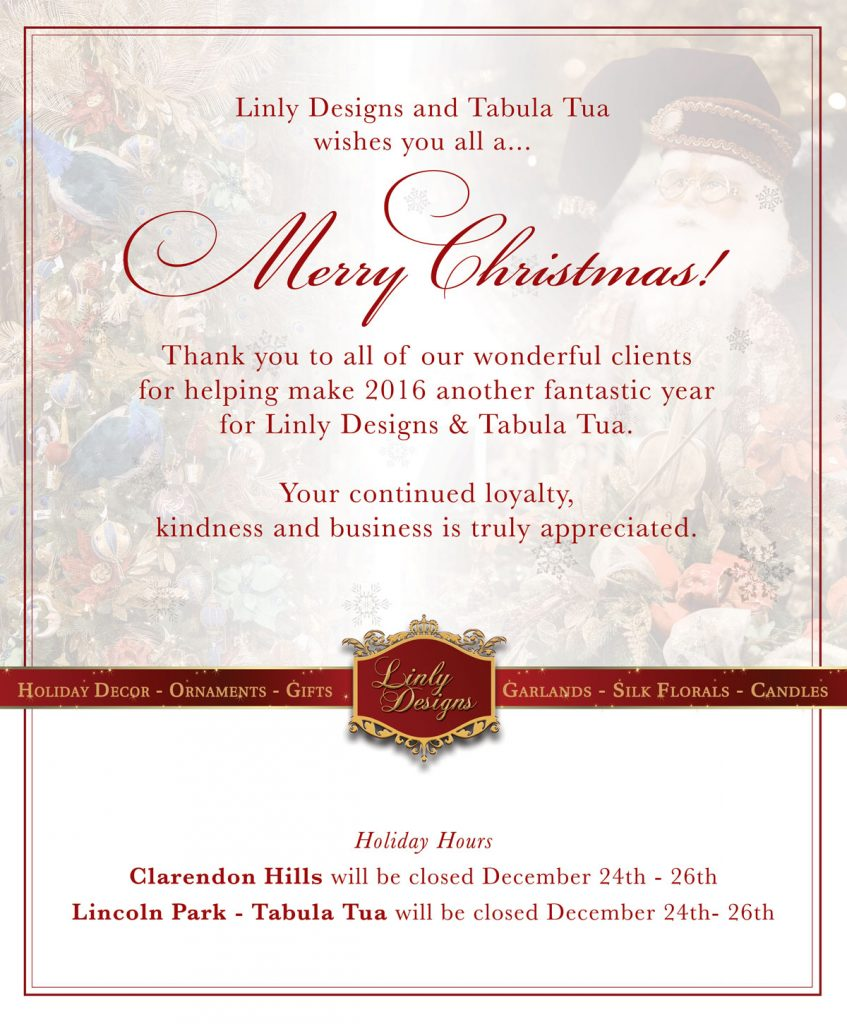 , Merry Christmas from All of Us at Linly Designs!