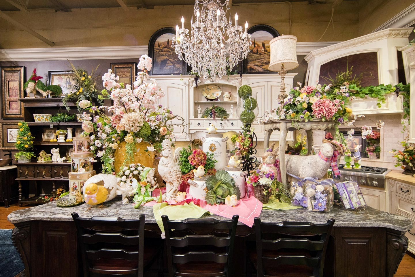 2017 open house blooming with spring decorations for Home furnishings and decor