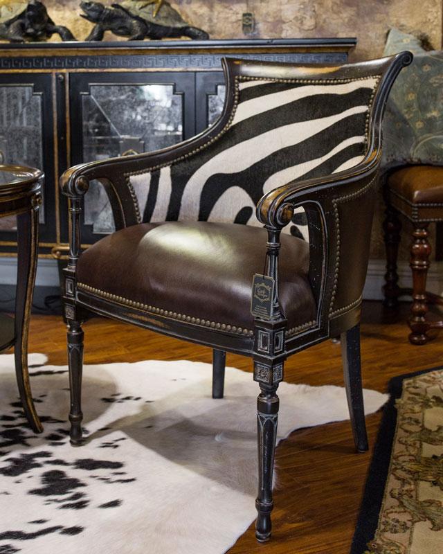 Custom Animal Print Side Chair