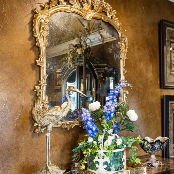 Gold Carved Antiqued Mirror