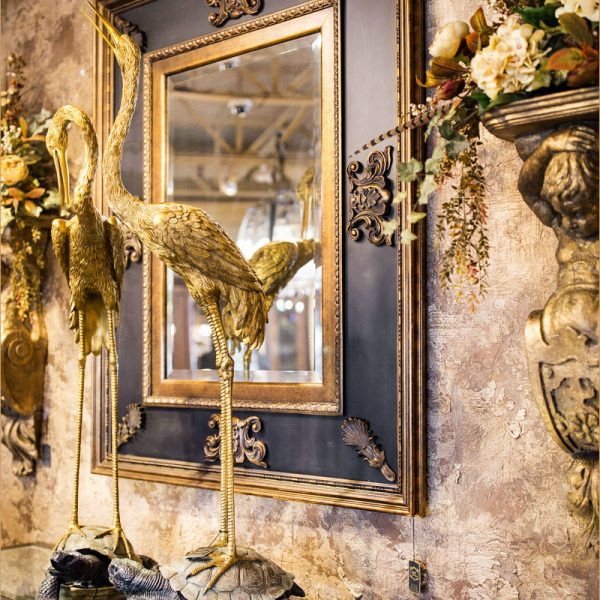 Large Black Gold Wall Mirror