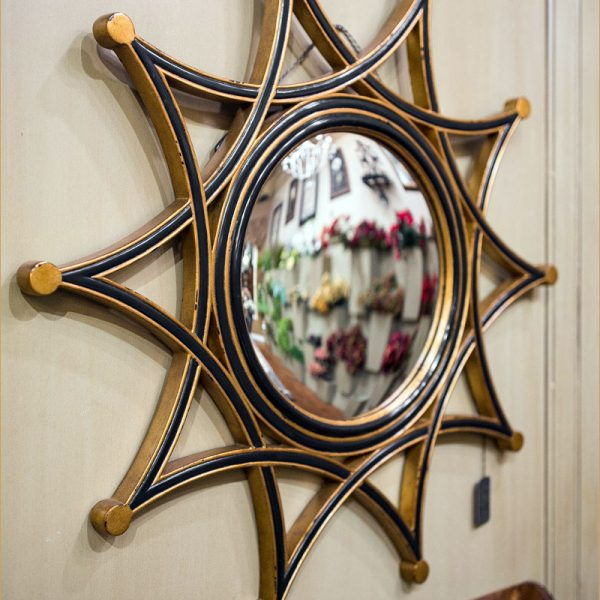 Unique Black Gold Star Mirror