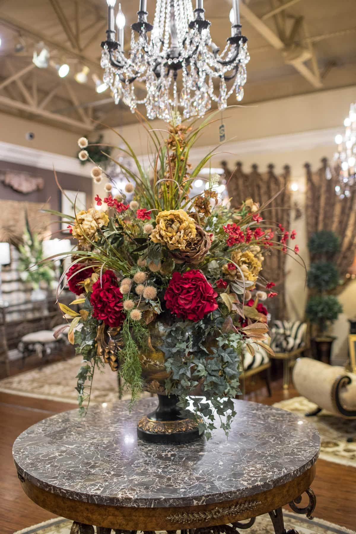 Foyer Table Floral Arrangements : Silk floral seasonal decor linly designs