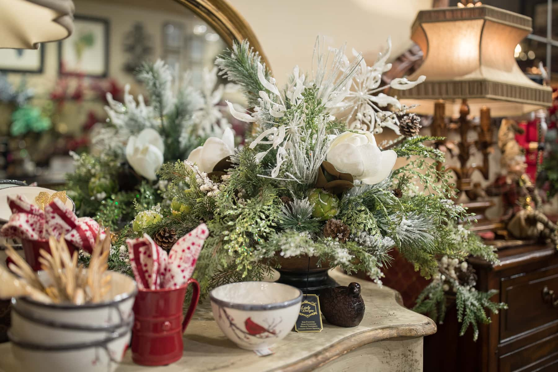 Custom Handcrafted Winter Florals