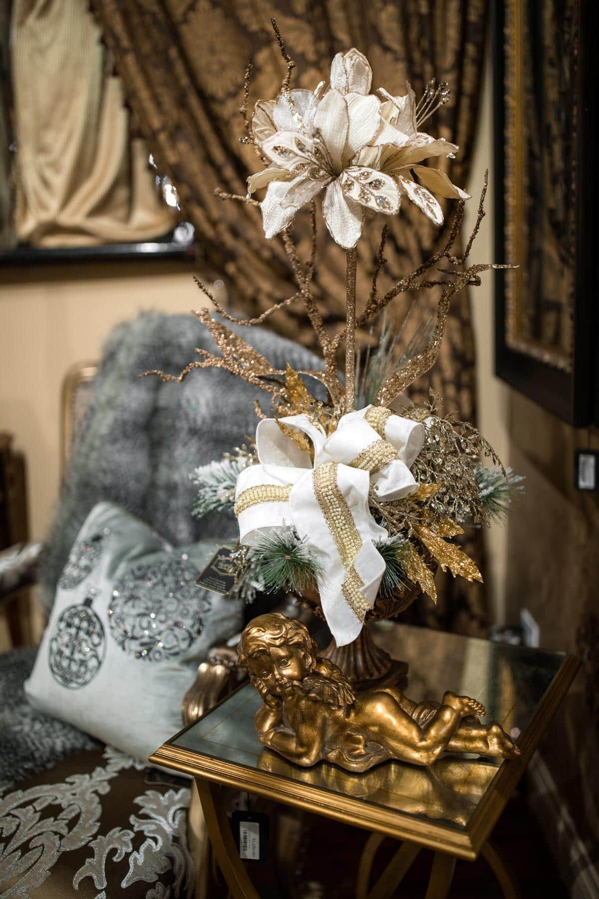 Custom Neutral Christmas Floral Arrangements 2