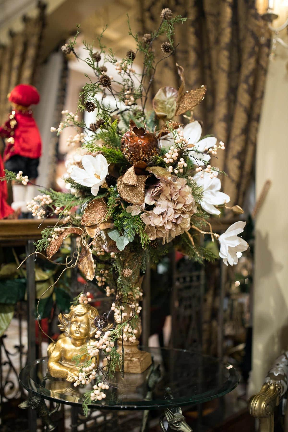 Custom Neutral Christmas Floral Arrangements 3
