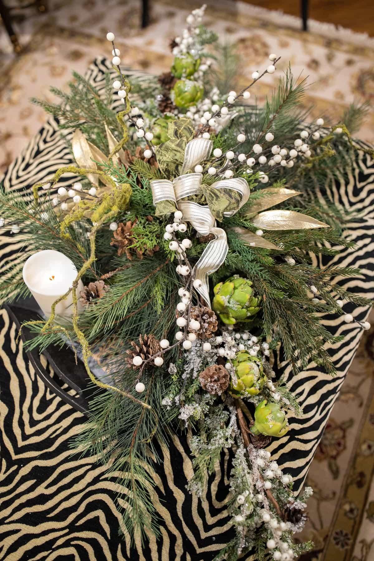 Custom Neutral Christmas Floral Arrangements 4