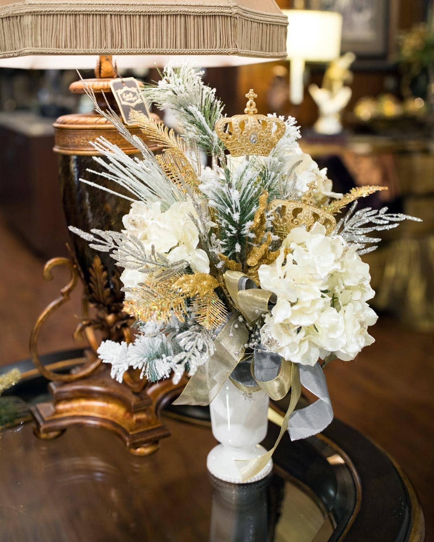 Custom Neutral Christmas Floral Arrangements
