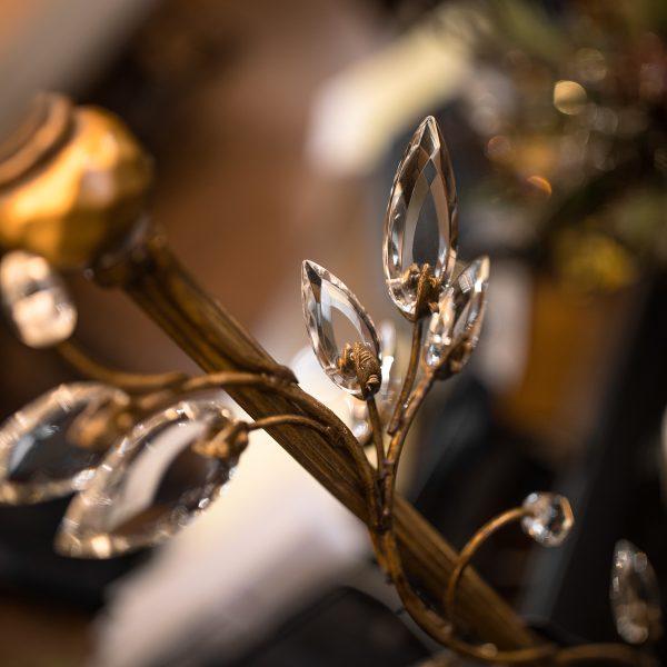Fine Art Gold Crystal Lamp