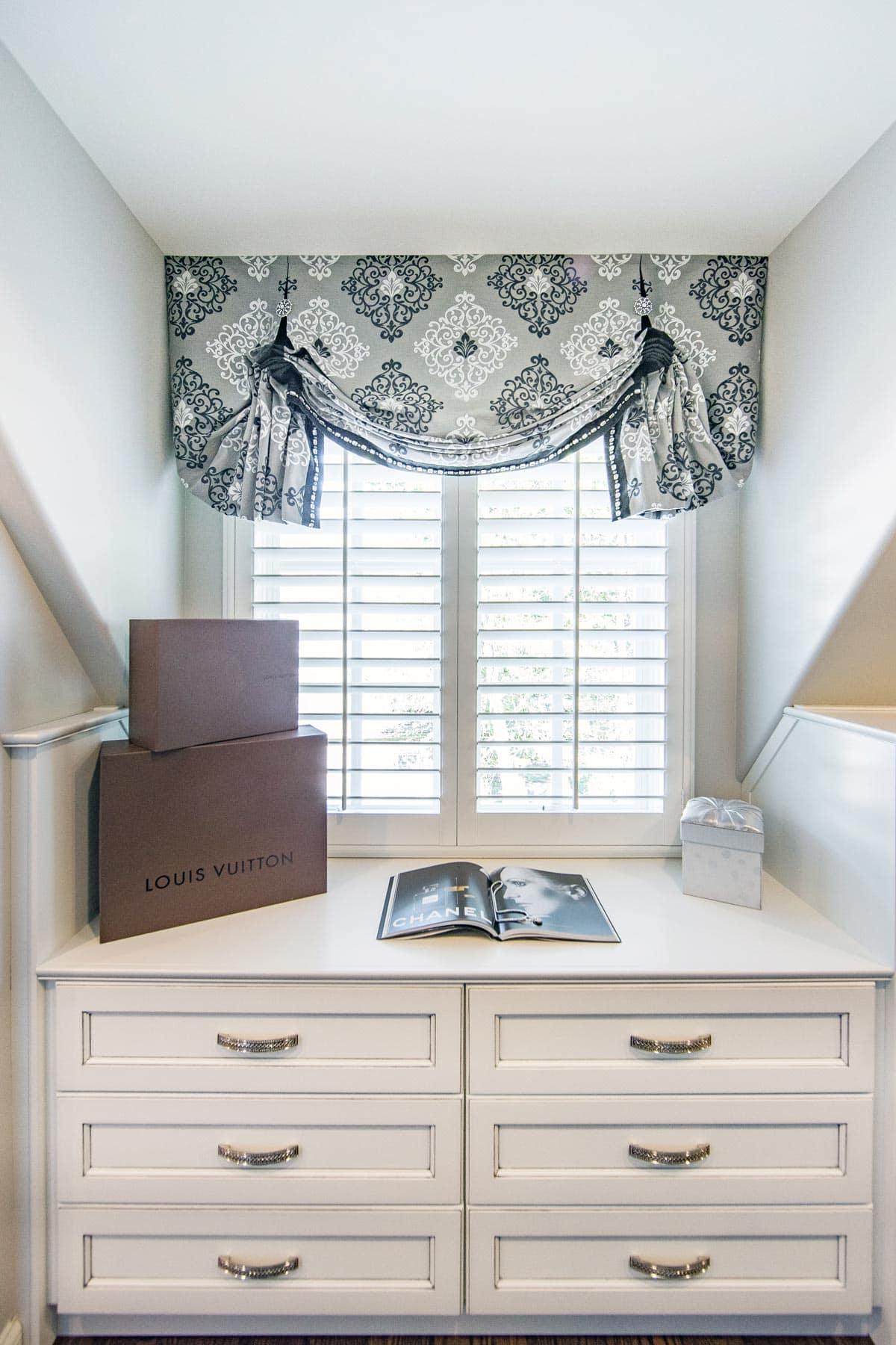 Master Closet Window Treatments 2