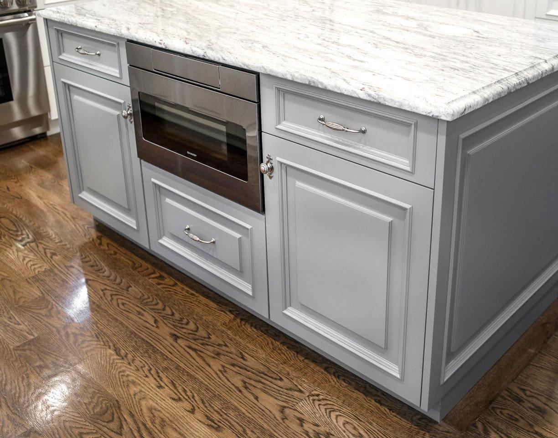 Custom White Kitchen Island Design