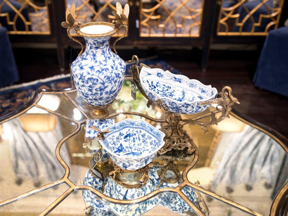 Hand Painted Porcelain Oriental Home Decor