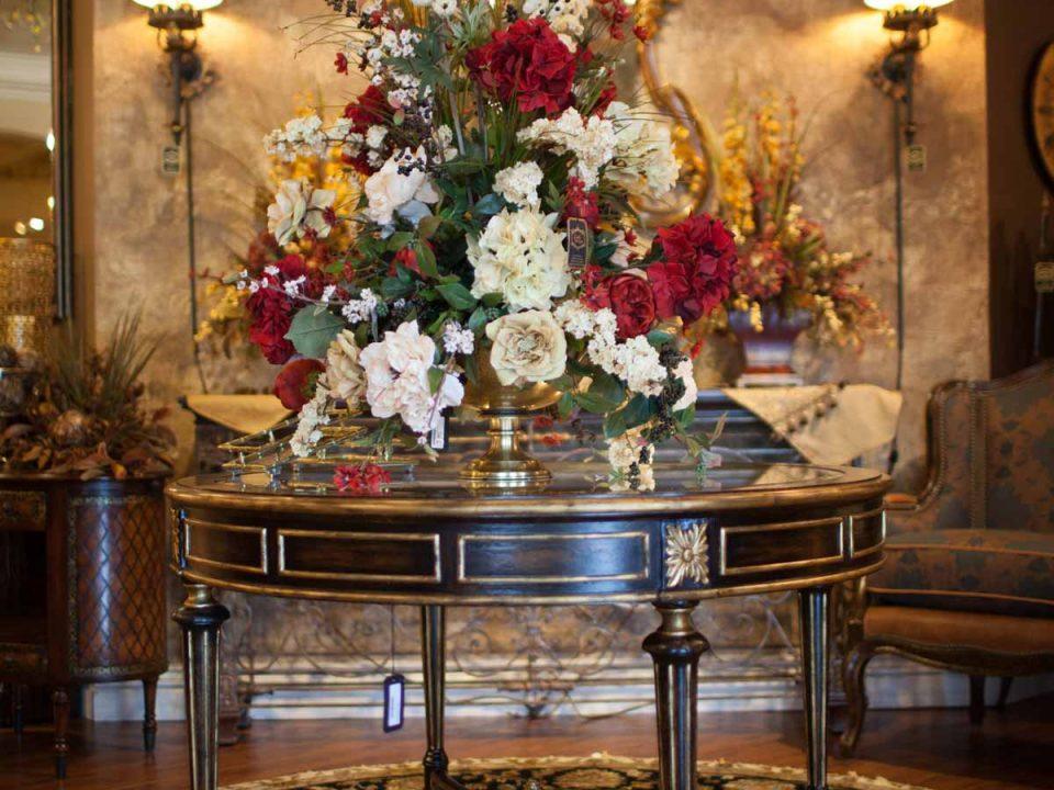 Foyer Table Flower arrangement