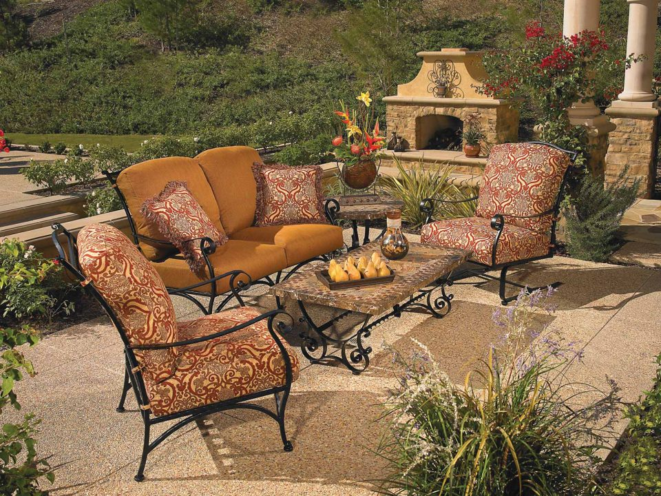 Luxury Outdoor Furniture Set Fireplace