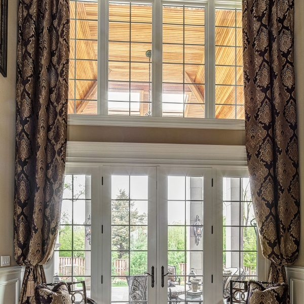 custom window treatments for tall ceiling