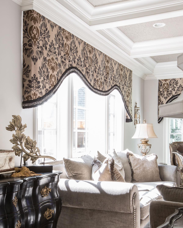 Custom window treatments linly designs
