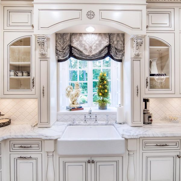 custom window treatments in kitchen