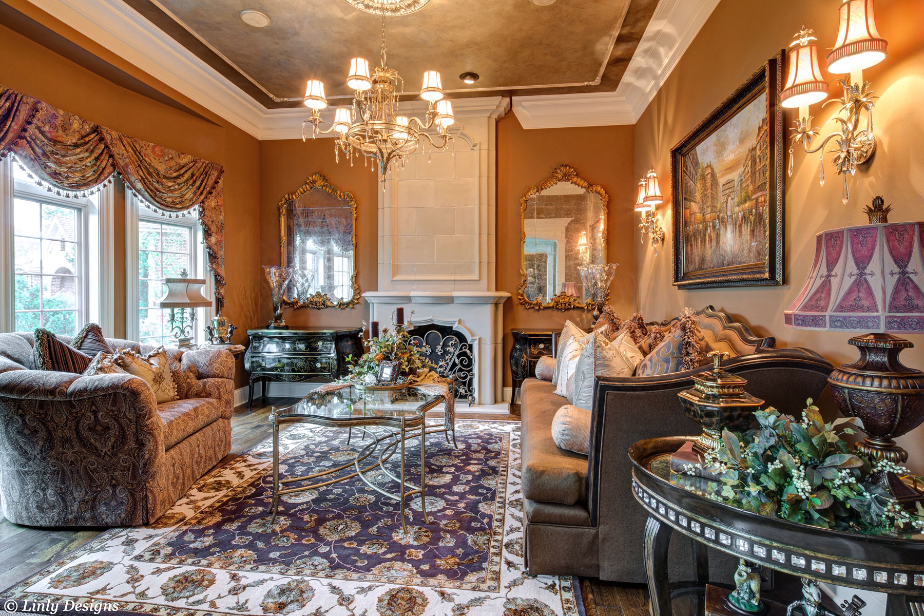 Living Room and Family Room Design – Linly Designs