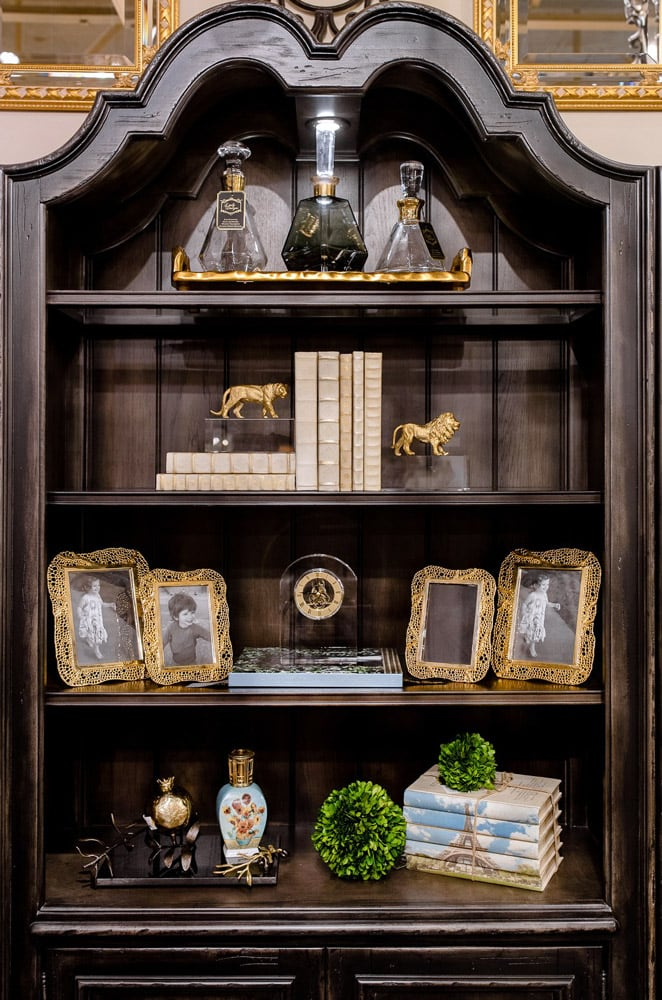 Custom Bookcase Accessories and Home Decor