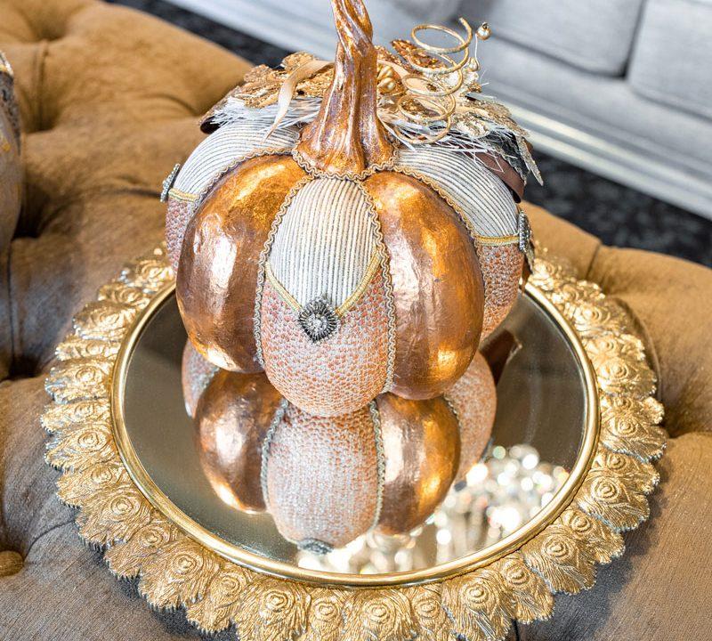 Gold Mirror Tray Luxury Home Decor