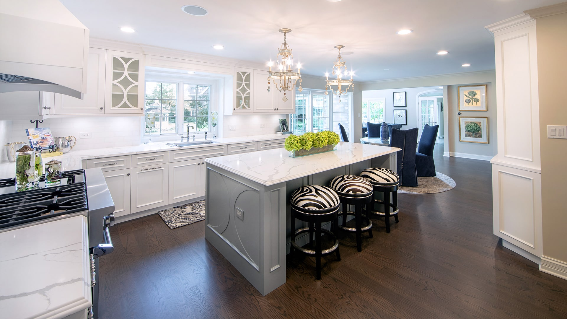 Luxury White Kitchen Remodel