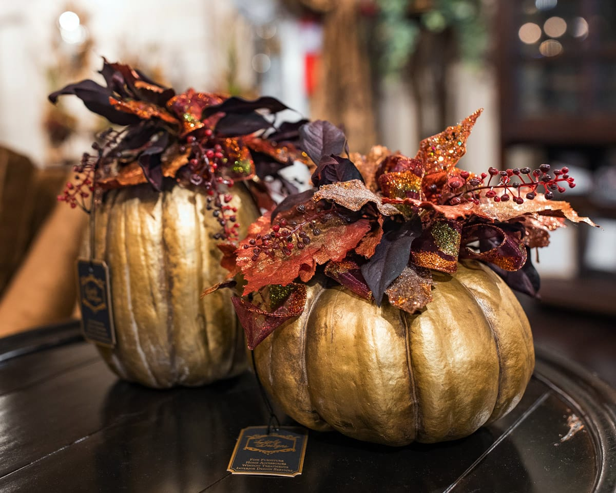 , Fall Home Decor and Seasonal Floral Arrangements
