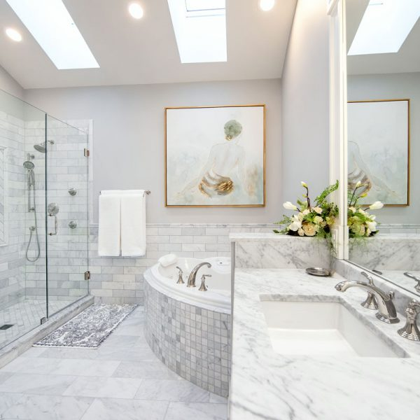 Custom Stone Bathroom Design Idea