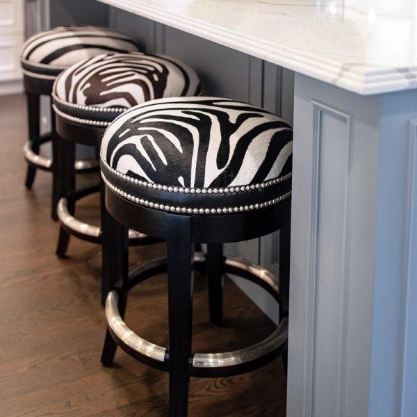White marble Kitchen Island Design