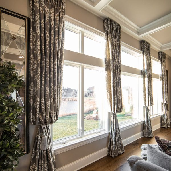 Custom Luxury Window Treatments in sunroom