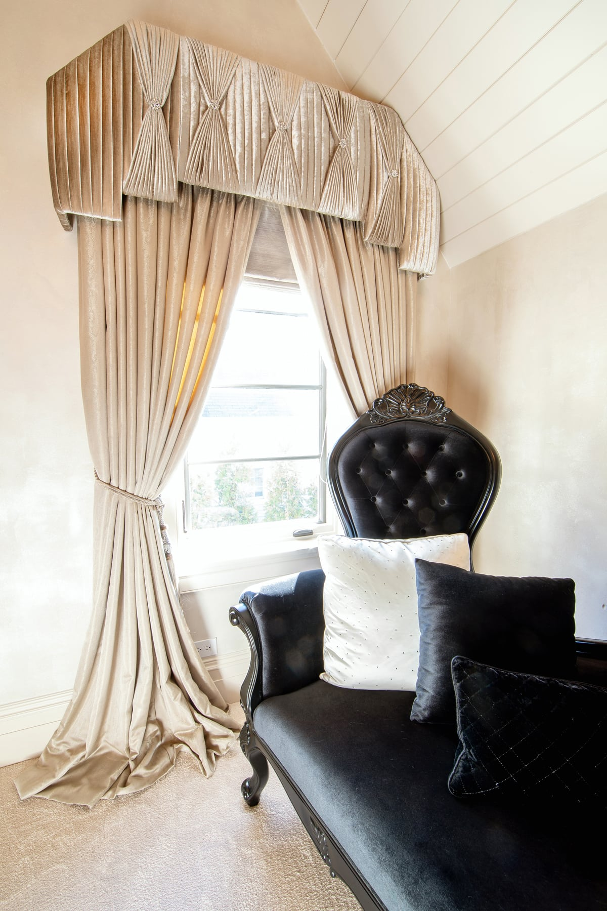Cream Luxury Custom Window Treatments